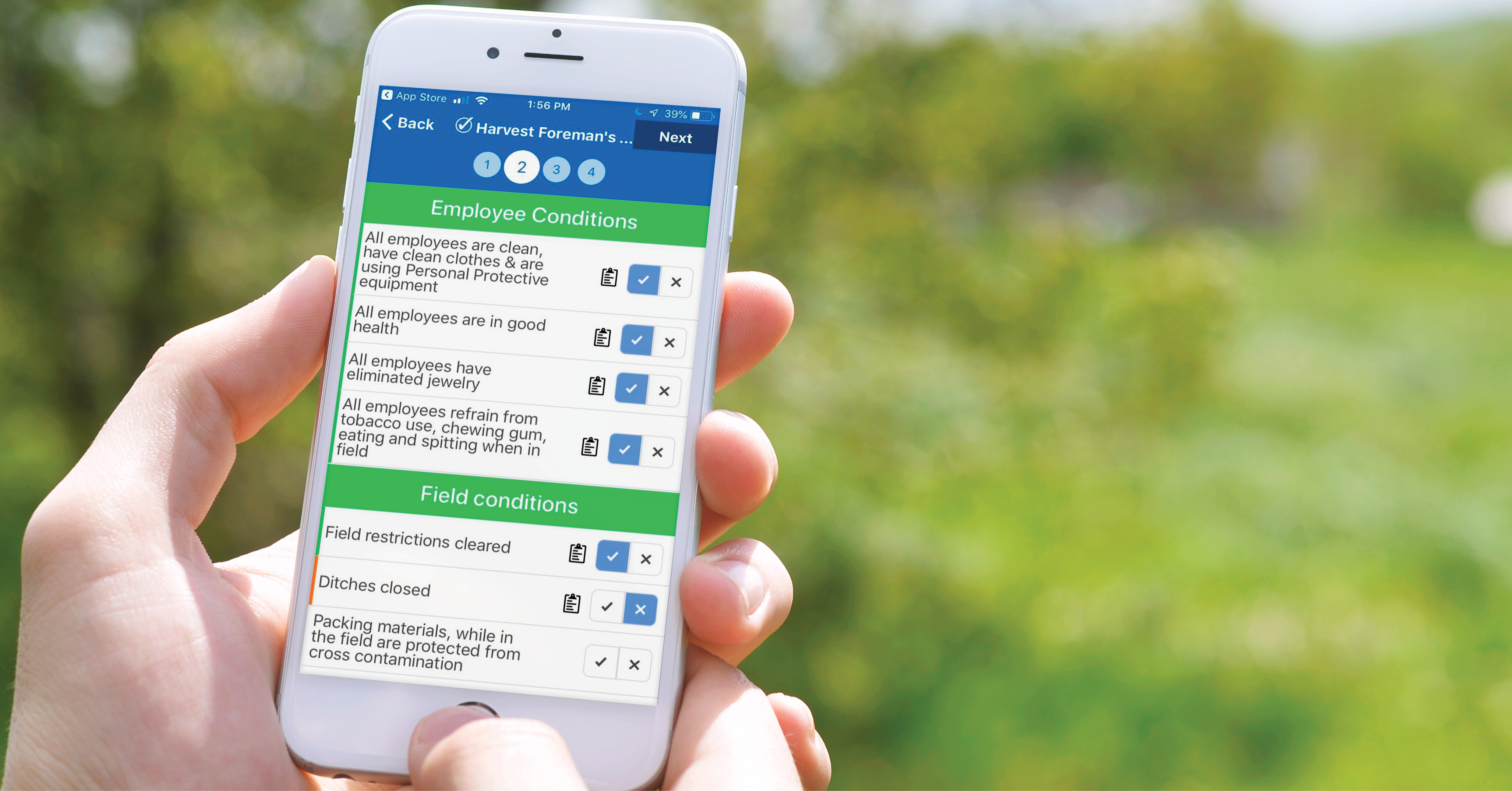 agriculture food safety compliance software mobile app